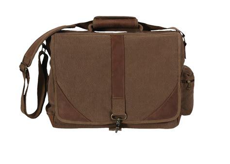 leather laptop bag black brown canvas leather laptop tablet student school shoulder messenger bag on inc