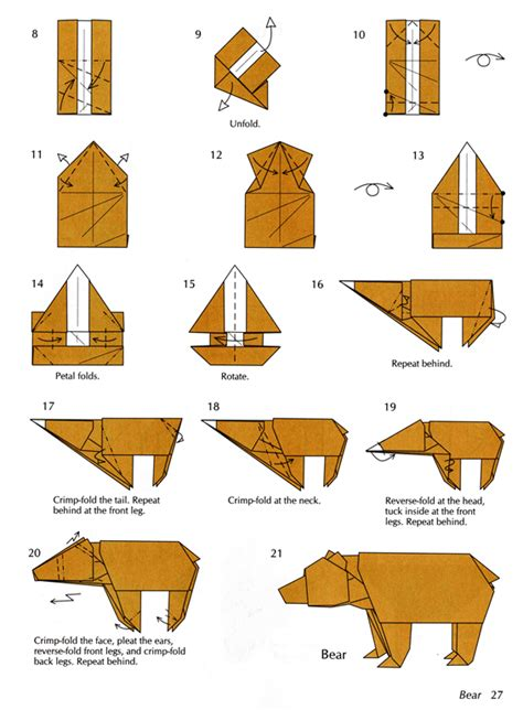 How To Make An Animal Out Of Paper - printable origami patterns 171 embroidery origami