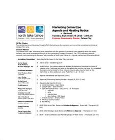 vendor meeting agenda template marketing meeting agenda template 8 free word pdf