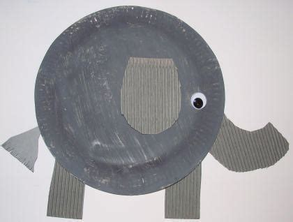 Elephant Paper Plate Craft - paper plate elephant craft