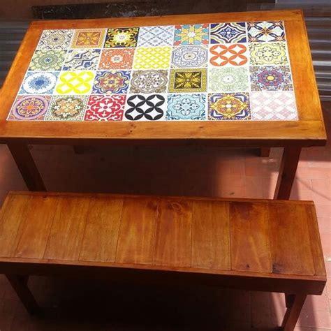 mesa de azulejos mesa azulejos e banco carllos cria 199 213 es elo7