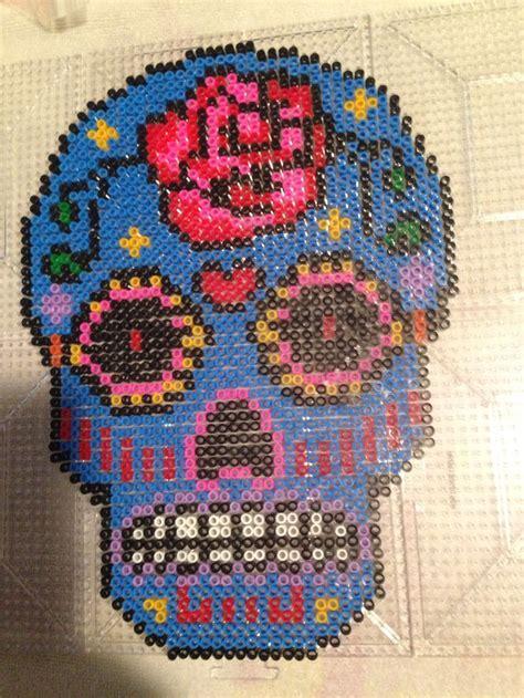 perler bead projects sugar skull pattern perler sugar skulls for