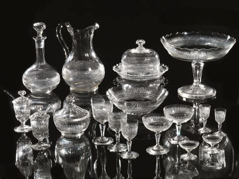 bicchieri baccarat catalogo servito di bicchieri baccarat sec xx e due alzate in