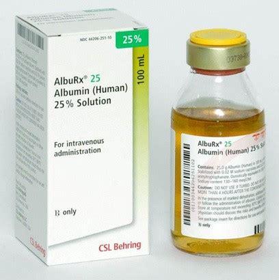 Albumin Behring alburx 25 100ml vial 10 cs