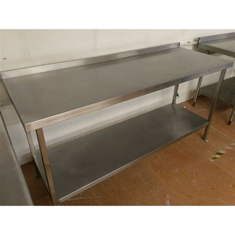 used stainless steel table with used stainless steel table and shelf
