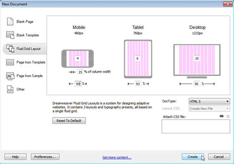 dreamweaver tutorial fluid grid layout creating responsive designs with dreamweaver cs6 fluid