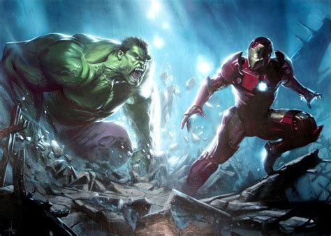 iron man tony stark battle hulk