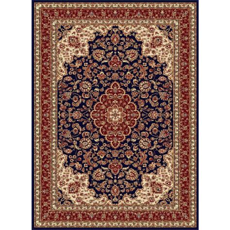 Rugs 2x3 by Tayse Rugs Sensation Navy Blue 2 Ft X 3 Ft Traditional