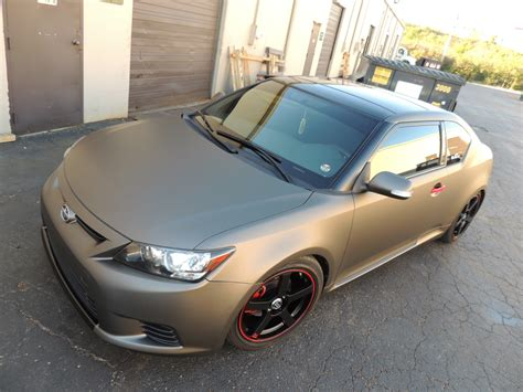 scion tc add ons scion tc wrap charcoal matte gray and accents