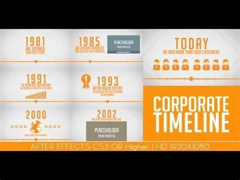 timeline after effects template after effects templates quot corporaet timeline quot www