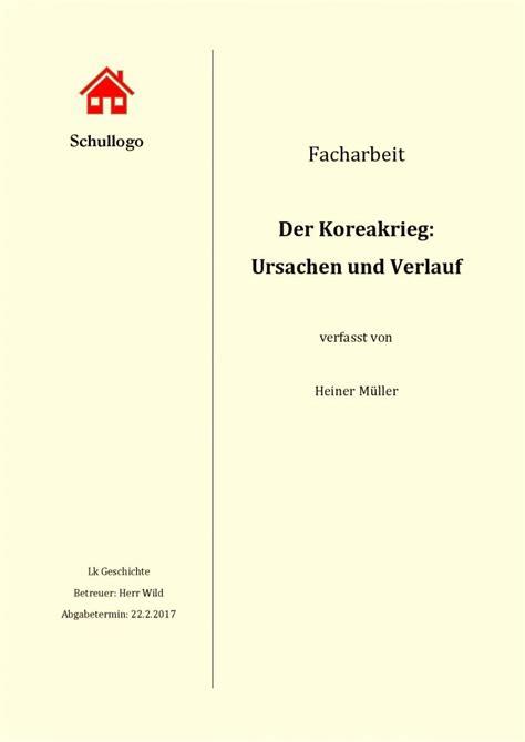Word Vorlage Seminararbeit Facharbeit Deckblatt Mustervorlagen Zum Herunterladen