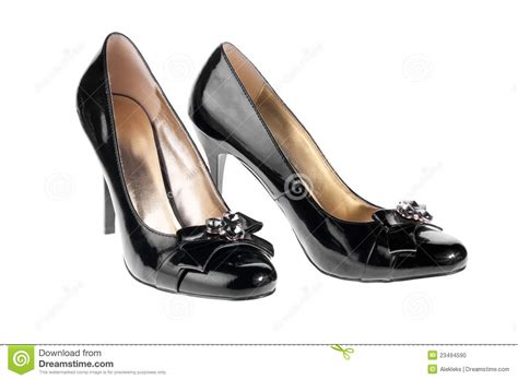 s black patent leather shoes stock photo image