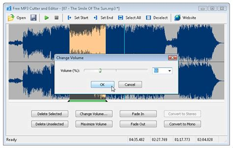 download mp3 cutter editor free mp3 cutter and editor portable 2 5 0 build 355