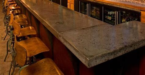 concrete bar tops concrete countertops in restaurants and bars the