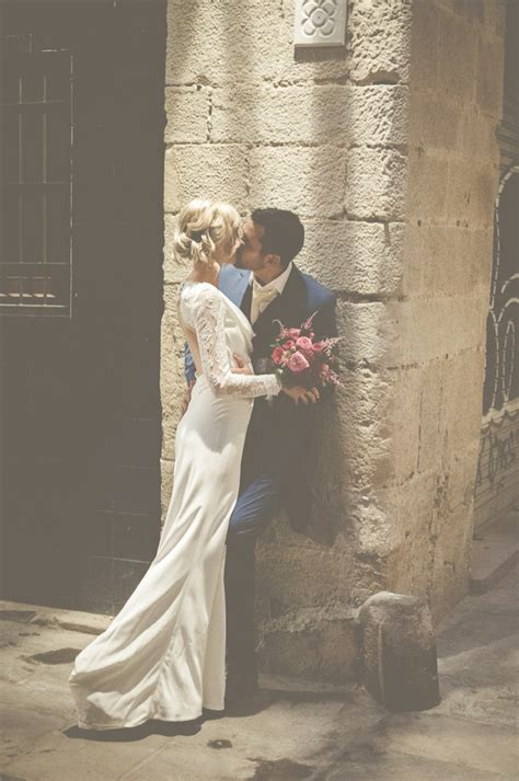 Vintage Wedding Photography by An Intimate And Luxurious Destination Wedding In Barcelona