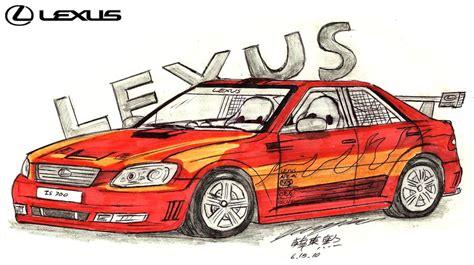 lexus is300 drawing lexus is300 f sport dynamic by toyonda on deviantart