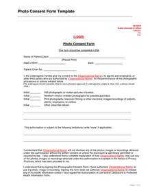 photo consent form template best photos of consent form template exles informed