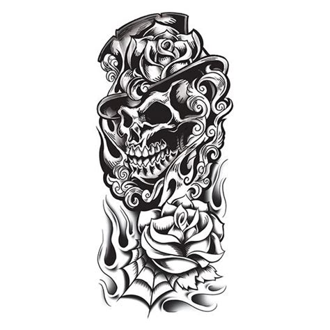 black rose skull tattoo designs 40 black and white designs