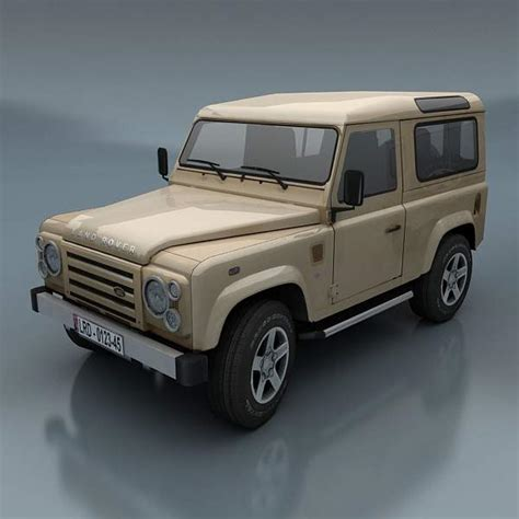 land rover defender 3d model ready max cgtrader