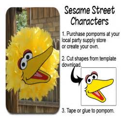 big bird template our creative mess big bird pompom template