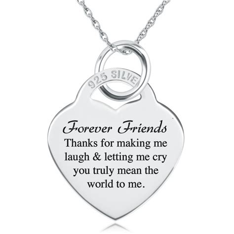 Friend Shape Silver Bandul Friend Silver friends forever laugh cry necklace personalised sterling silver