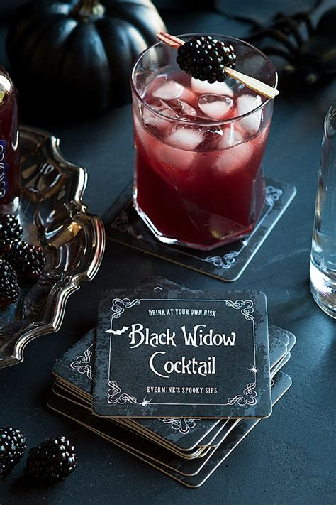 Mixer Black Widow 16ch 13 scary cocktails gift favor ideas