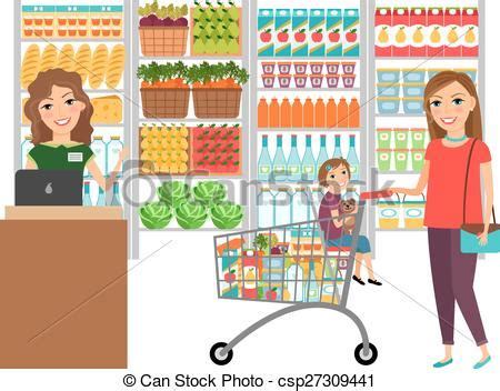 grocery store clipart market clipart supermarket pencil and in color market
