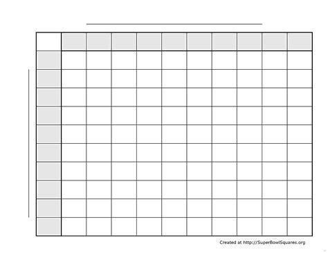 Free Printable Bowl Squares Template