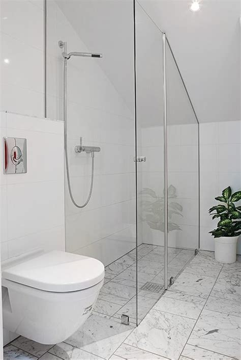 Short Shower Baths items that can fit under a low angled ceiling a bed