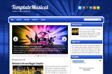 templates blogger deluxe templatemusical blogger template deluxetemplates