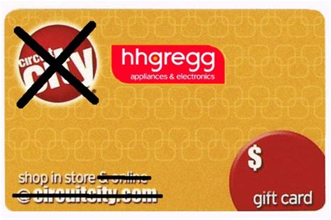 Hhgregg Gift Card - hhgregg accepting circuit city gift cards some strings attached
