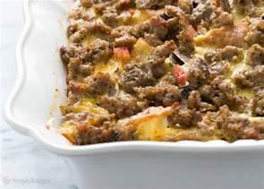sausage breakfast casserole recipe simplyrecipes com