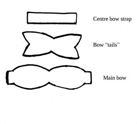 template of a bow 12 amazing bow templates to sle templates