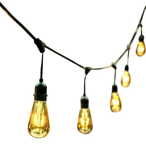 string of light bulbs outdoor shop ove decors 48 ft 24 light yellow clear glass shade