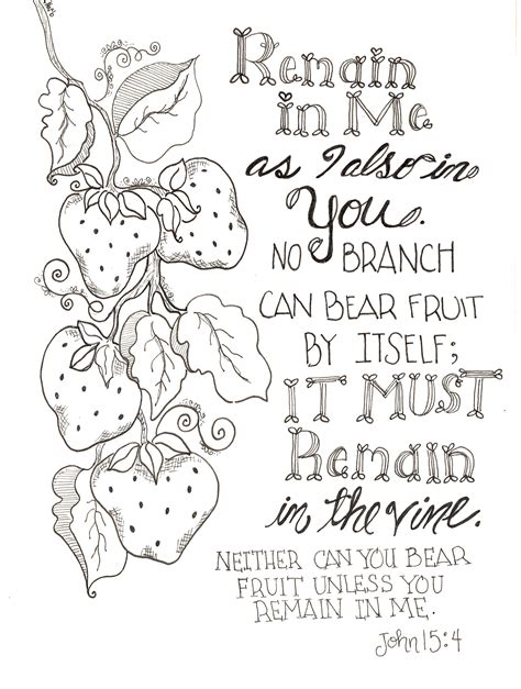 printable inspirational journal free inspirational remain in me scripture coloring pages