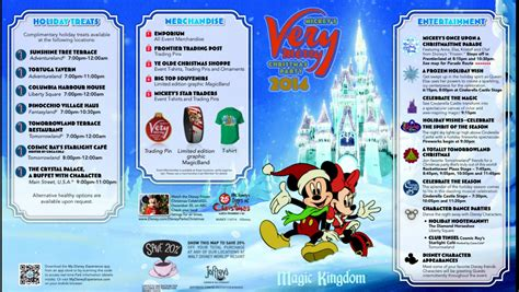 2014 mickey s very merry christmas party map now available