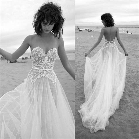 discount simple beach wedding dresses summer  sexy