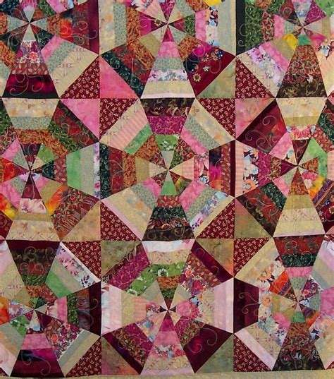 Kaleidoscope Patchwork Quilt Pattern - 17 best images about scrap quilt ideas on