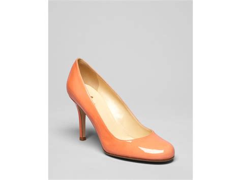 kate spade high heels kate spade pumps karolina high heel in orange melon lyst