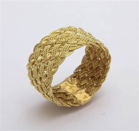 woven italian gold band ring for sale at 1stdibs