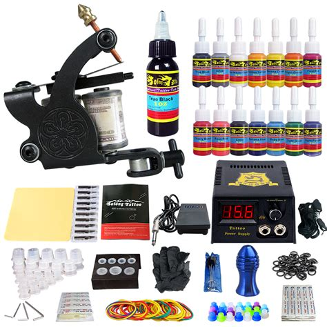 tattoo gun kits complete kit 1 machine gun 14 color inks