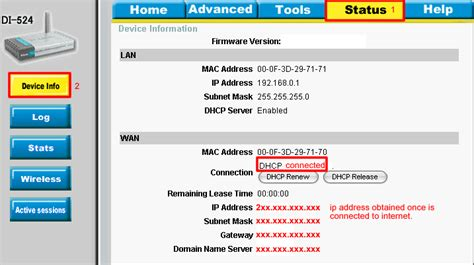 Modem Di Malaysia how do i configure di 524 wan settings for cable modem