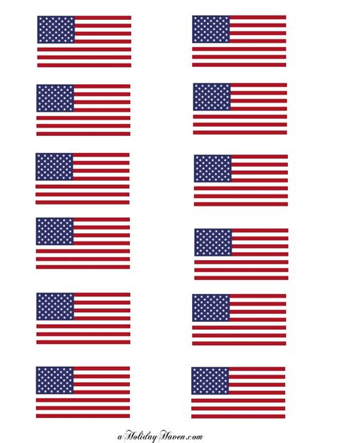 printable american flag template and facts with july 4th freebies