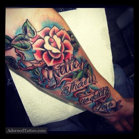 traditional rose tattoo sleeve neo tradition and song verse adorned