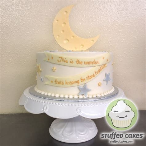 Moon And Baby Shower by Stuffed Cakes Moon And Baby Shower Cake