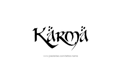 karma name tattoo designs