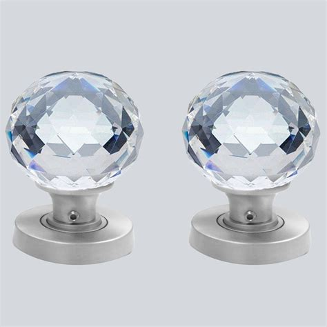 Glass Door Knobs by Cut Glass Door Knobs 60mm Pair The Ceramic Store