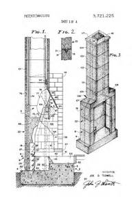 Fireplace Construction Drawings by Patent Us3721225 Factory Fabricated Fireplace