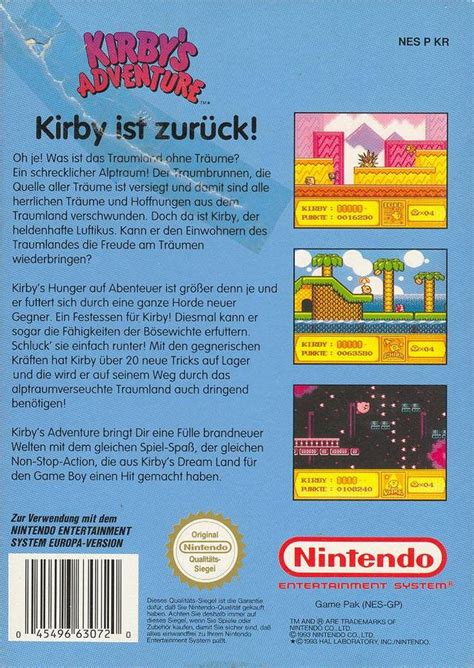 Emuparadise Kirby Nes   kirby s adventure germany rom