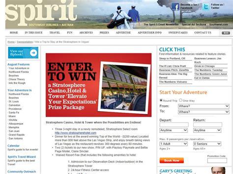 Southwest Airlines Las Vegas Giveaway - southwest airlines spirit sweepstakes sweepstakes fanatics